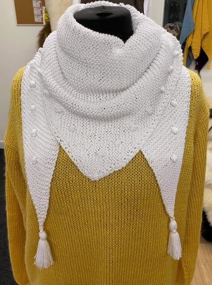 Bobble Wrap in White Cotton Bamboo