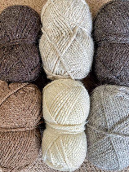 Chunky British Wool - Blue Faced Leicester, Masham, Shetland Moorit, Jacobs, Suffolk, Black Welsh