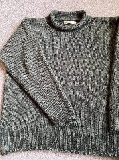 Hunton jumper in Wensleydale Spruce Aran wool