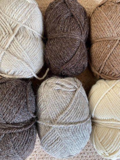 Mixed Bag of Chunky British Wool 500g