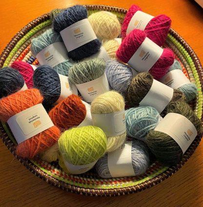 Wensleydale Longwool DK Mini balls of wool