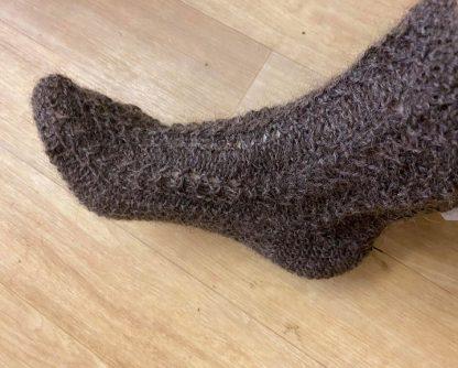 Wensleydale Lounge Socks in undyed Natural Black