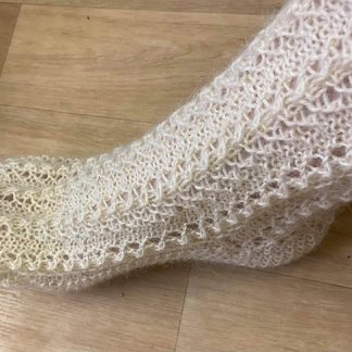 Wensleydale Lounge Socks in undyed Natural White