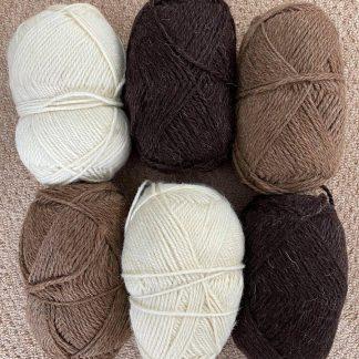 British Wool - Aran - browns and natural