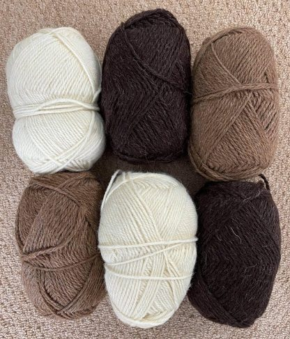 British Wool - Aran - browns and natural