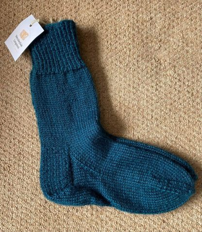 Iveson hand knit and dyed Boot Socks - Teal