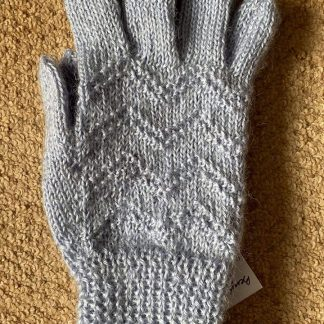 Wensleydale Hand Knit Gloves - Moonlight