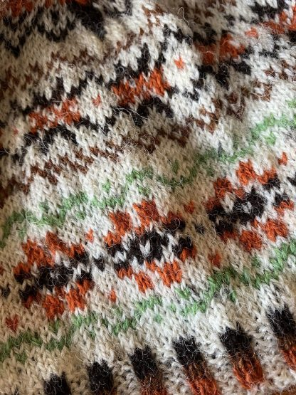 Sheep Shop Tweed Fairisle detail