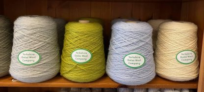 Yorkshire Dales Wool Company British DK wool on various colour cones