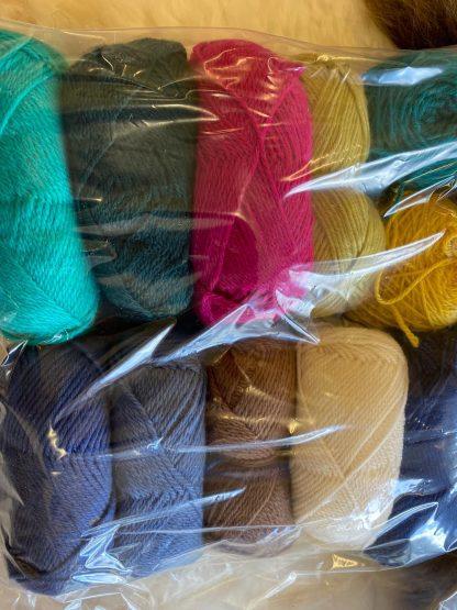 Scrappy Bags of assorted DK wool 3