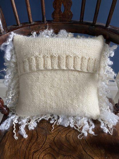 Wensleydale Fleece cushion back