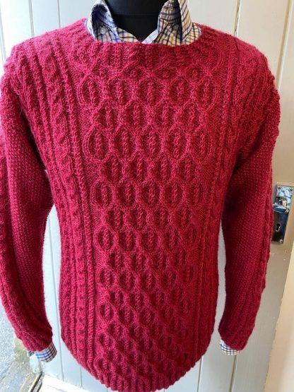 Wensleydale Aldwark Sweater in Pomegranate
