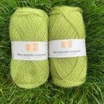 Wensleydale Grassington in Aran and DK yarn balls