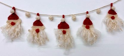 Father Christmas (Santa Claus) Bunting Kit made with Wensleydale wool and fleece